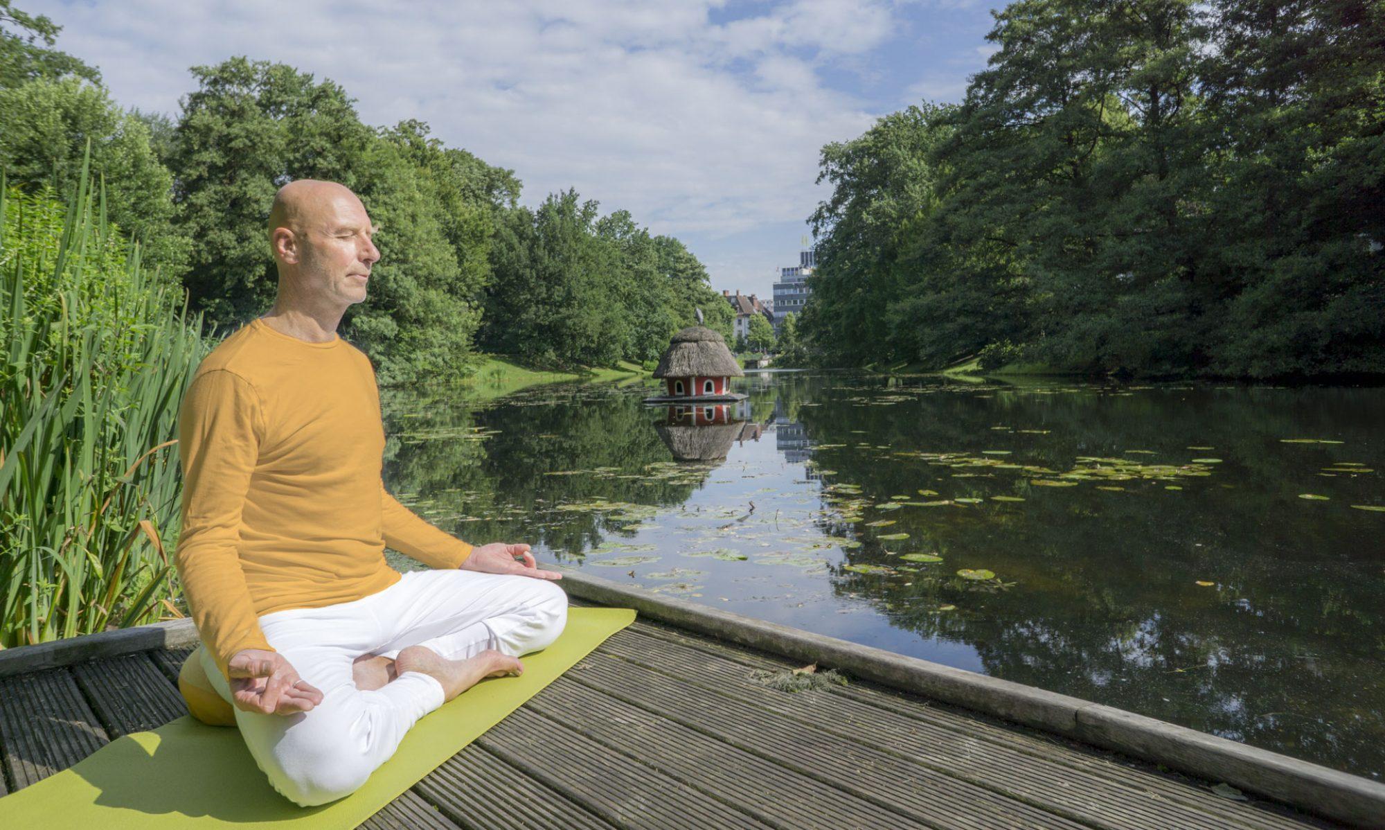 Yoga zentriert